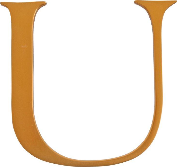 Brass Letter, U