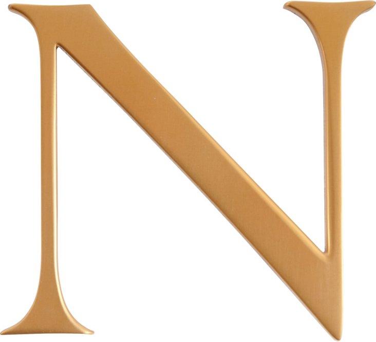 Brass Letter, N