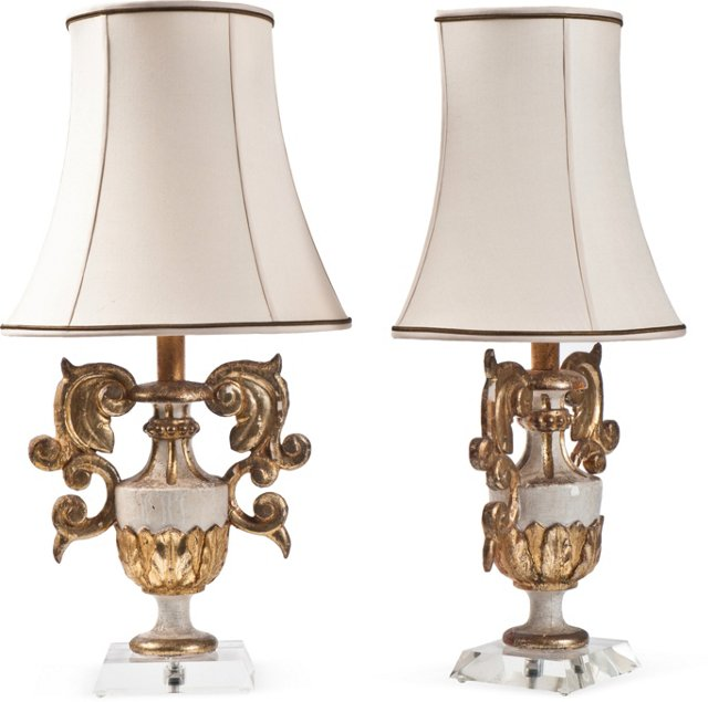 Urn-Shaped Lamps, Pair