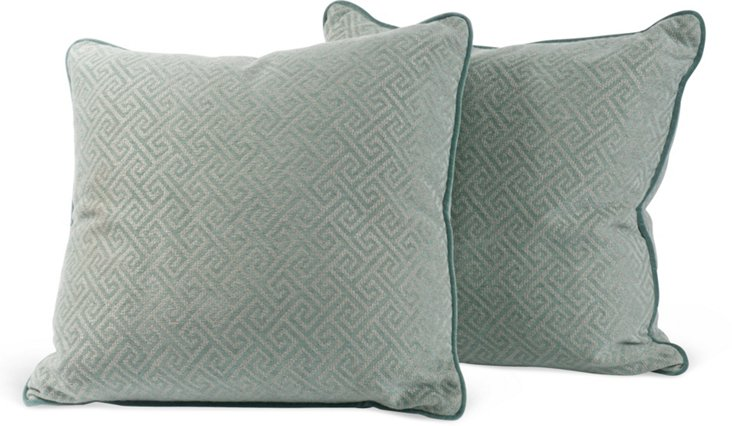 Greek-Key Pillows, Pair