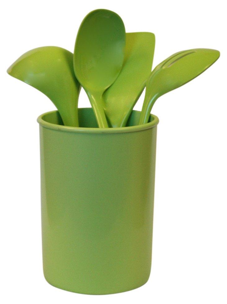 5-Pc Utensil Set, Green