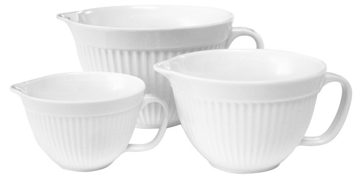 6-Pc Melamine Measuring Cup Set, White