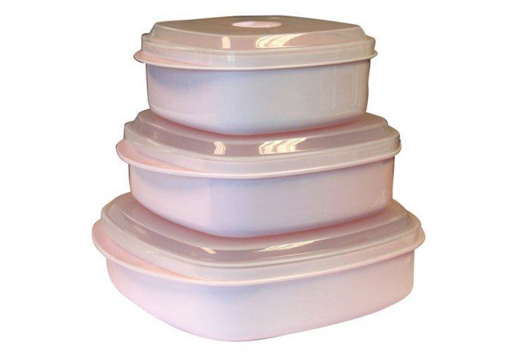 6-Pc Microwave Cookware Set, Pink