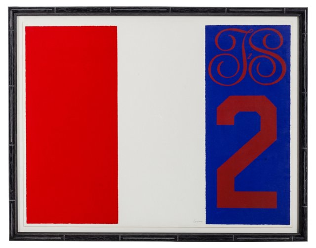 French Flag Print