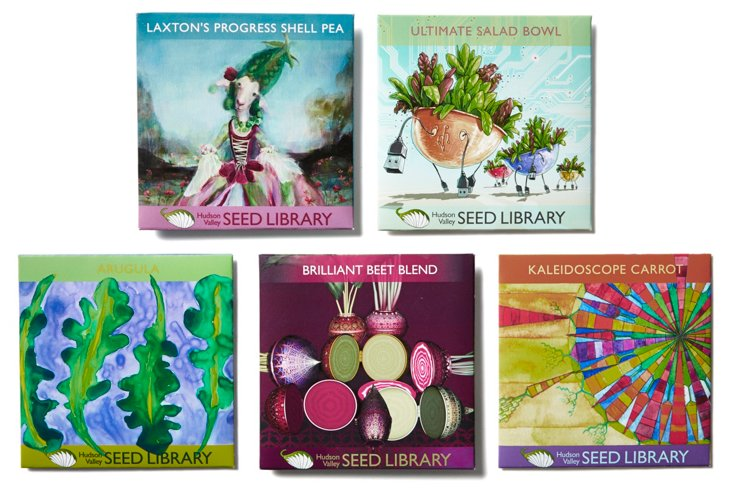 Asst. of 5 Kitchen Spring Seed Packets