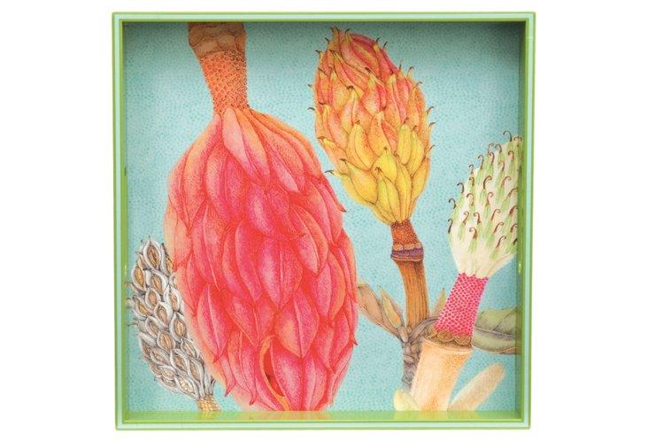 """15"""" Magnolia Grande Flora Square Tray"""