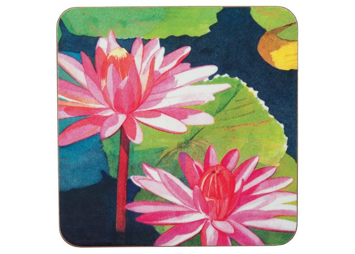 S/8 Water Lilies Coasters