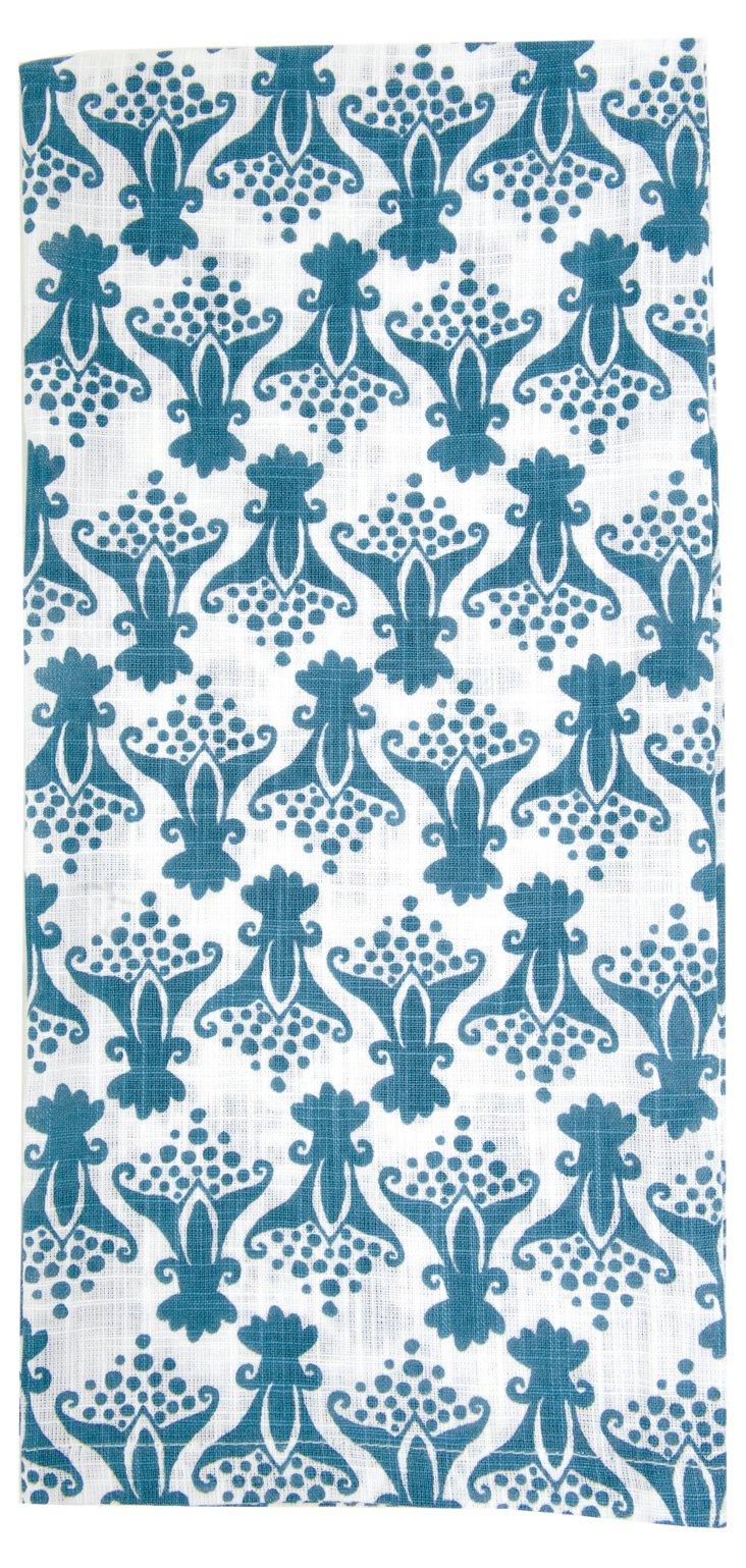 S/6 Tulip Kitchen Towels, Slate