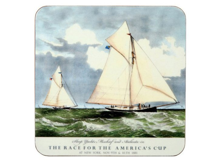 S/8 Coasters, 1881 America's Cup