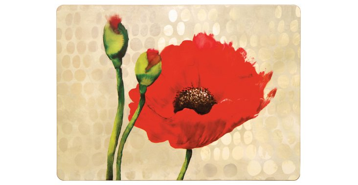 S/4 Poppies Place Mats