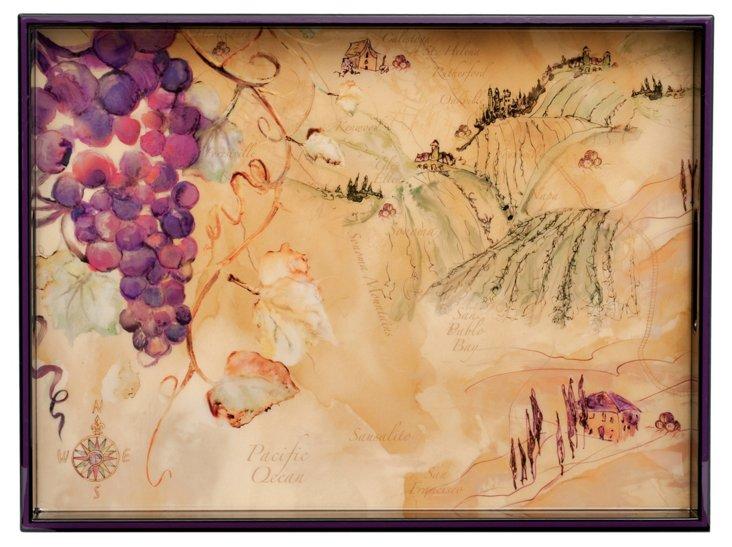 """20"""" Napa Vineyards Tray"""