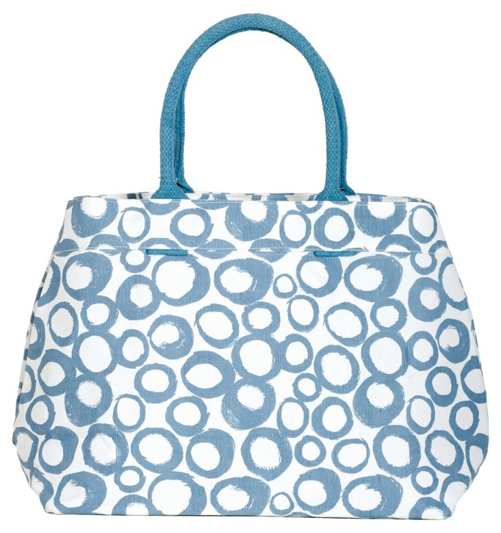 Cassis City Tote, Azure