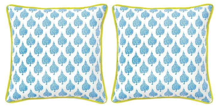 """S/2 18"""" Pillows, White Crete"""
