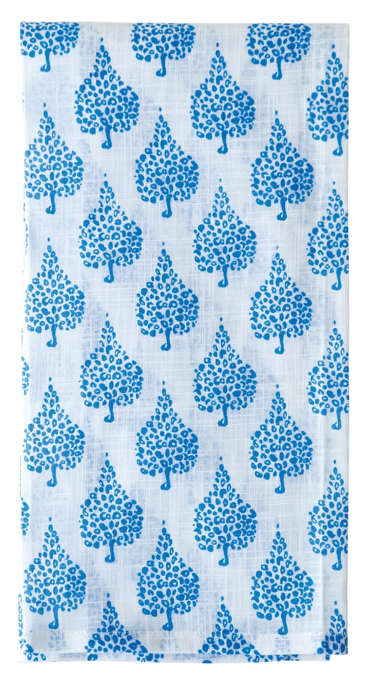 S/6 Crete Kitchen Towels, Blue
