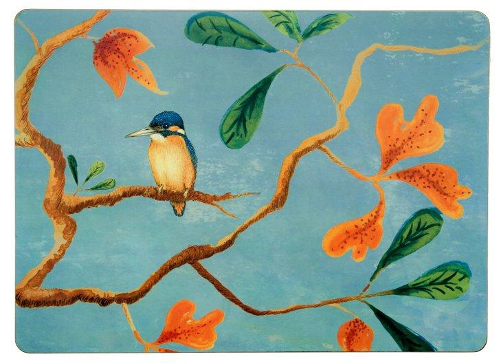S/4 Kingfisher Hard Place Mats
