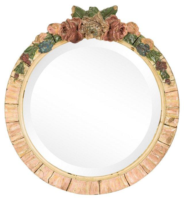 Vintage Circular Table Mirror