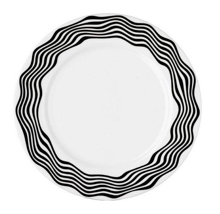 Dinner Plate, Black/White
