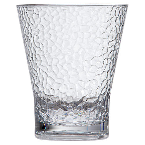 S/6 D&V Poolside Juice Hammered Glasses