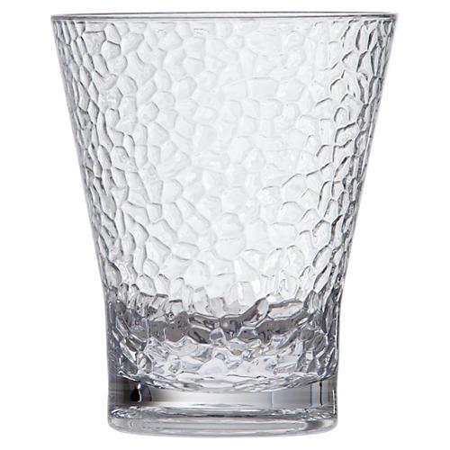 S/6 D&V Poolside Juice Hammered Glasses