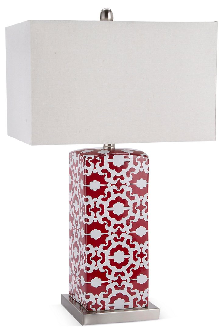 Blossom Table Lamp, Red