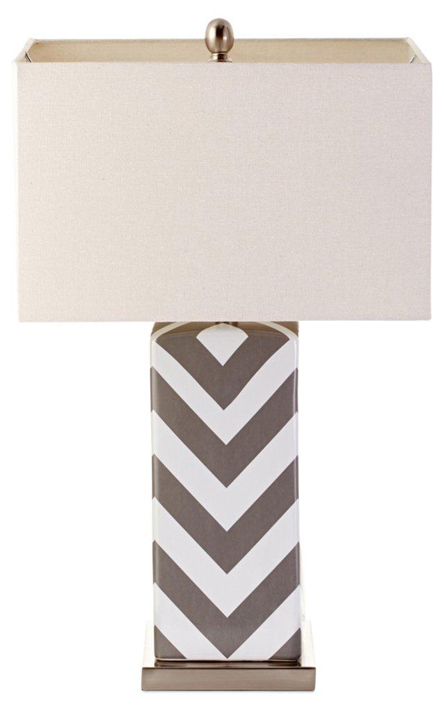 Chevron Table Lamp, Gunmetal