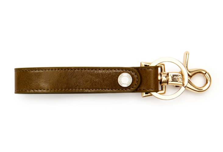 Loop Key Chain, Olive