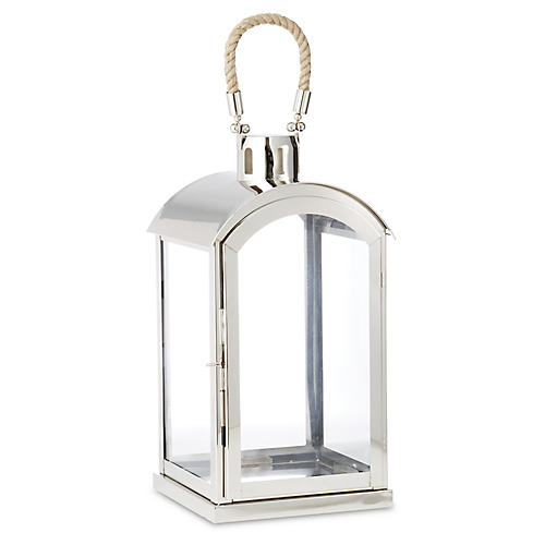 "18"" Amalfi Lantern, Silver"