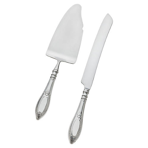 2-Pc Donatello Cake Knife & Server