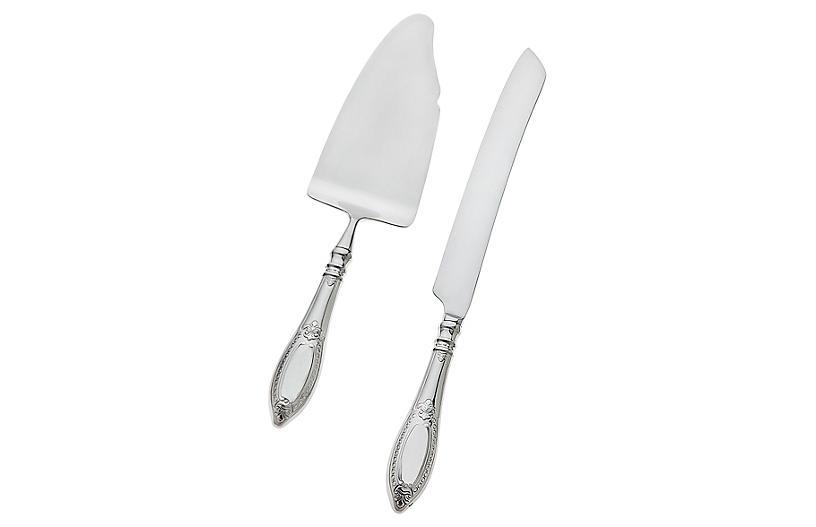 2-Pc Donatello Cake Knife & Server