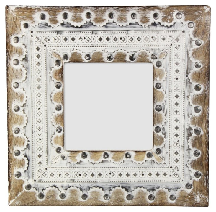 Distressed Wooden & Metal Frame, 4x4