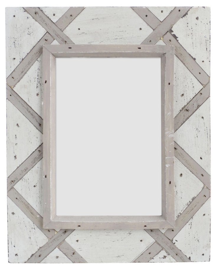 Thatch Design Wood Frame, 4x6, Taupe