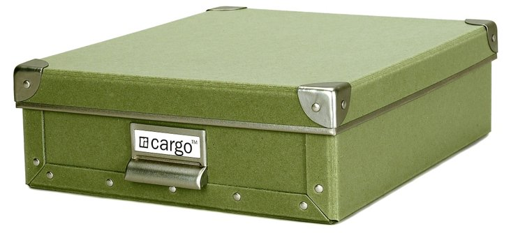 S/2 Cargo Stationery Boxes, Sage