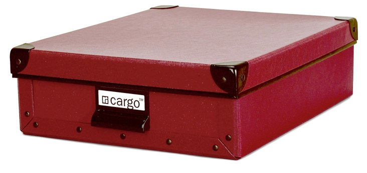 S/2 Cargo Stationery Boxes, Red Spice