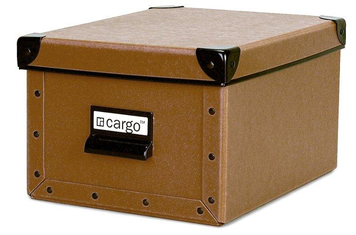 S/2 Cargo Photo/Media Boxes, Nutmeg