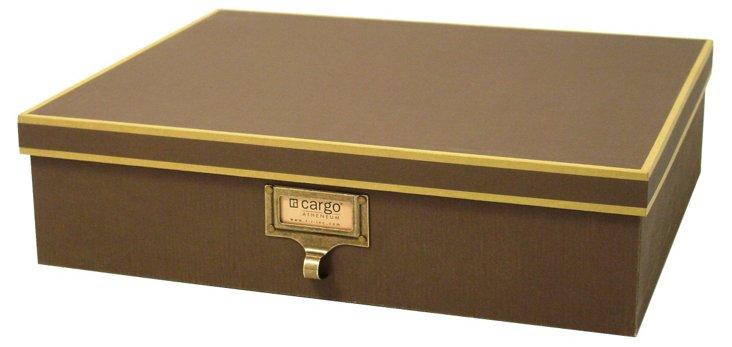 S/2 Cargo Atheneum Document Boxes, Brown