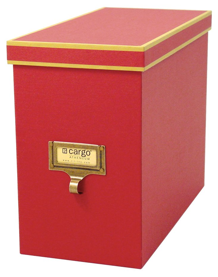 S/2 Cargo Atheneum File Boxes, Red