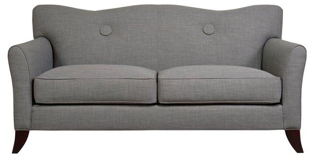 "Philadelphia 72"" Buttoned Sofa, Gray"