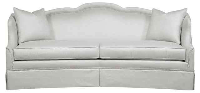 "Ventura 90"" Nail-Trim Sofa, Light Gray"