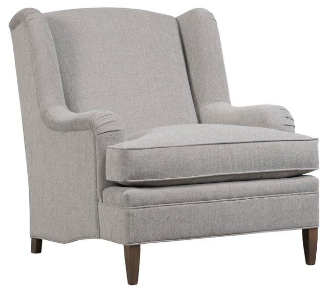 Savanah Wing Club Chair, Gray