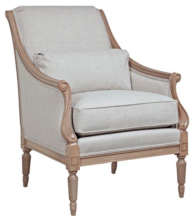 Alba Accent Chair, Light Gray