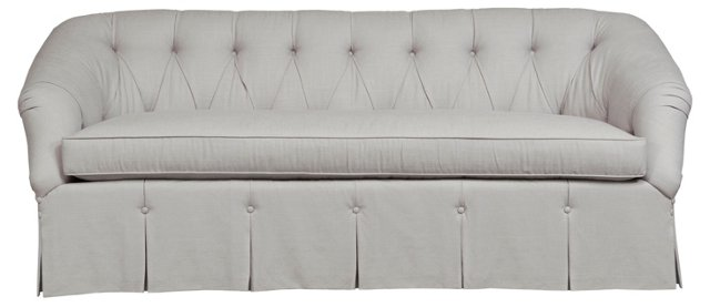"Tuscany 86"" Tufted Sofa, Gray"