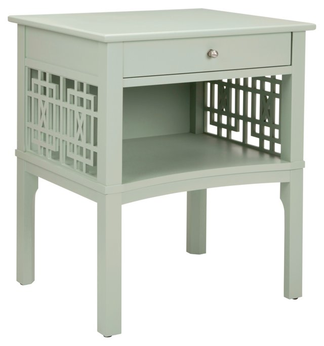 Rose End Table, Moss Gray