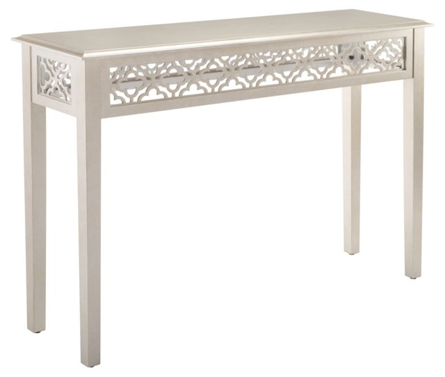 Riva Console Table, Silver