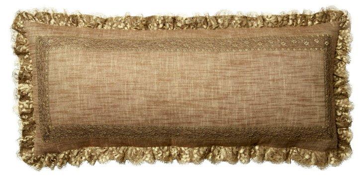 Louisa 16x20 Throw Pillow, Gold