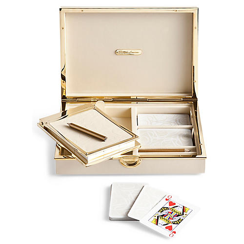 Joanna Bridge Game Set, Cream/Gold