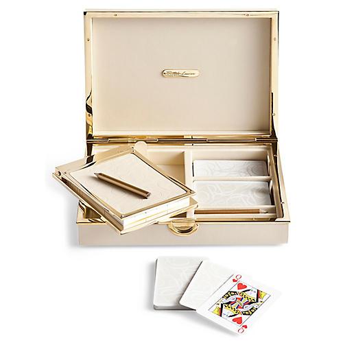 Joanna Bridge Game Set, Cream/Gold