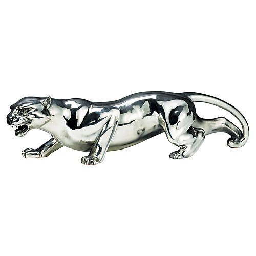 "20"" Saunders Panther Statue, Silver"