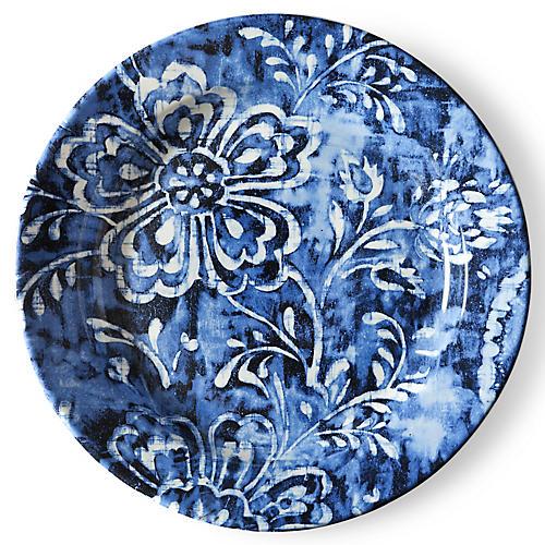 Cote D'Azur Floral Dinner Plate, Navy/White