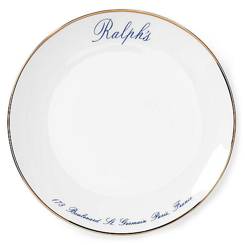 S/4 Ralph\u0027s Paris Canapé Salad Plates White/Navy  sc 1 st  Dinnerware | One Kings Lane & Dinnerware | One Kings Lane