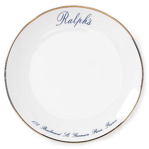 S/4 Ralph's Paris Canapé Salad Plates, White/Navy